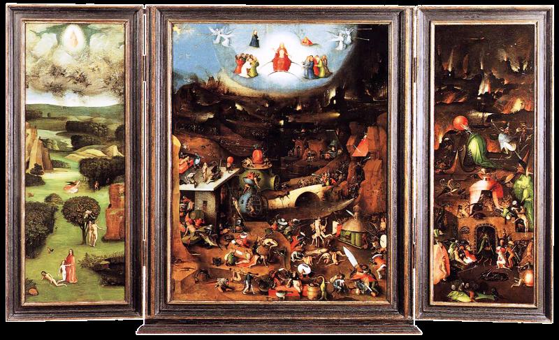 Триптих «Страшный суд». Картина Иеронима Босха.