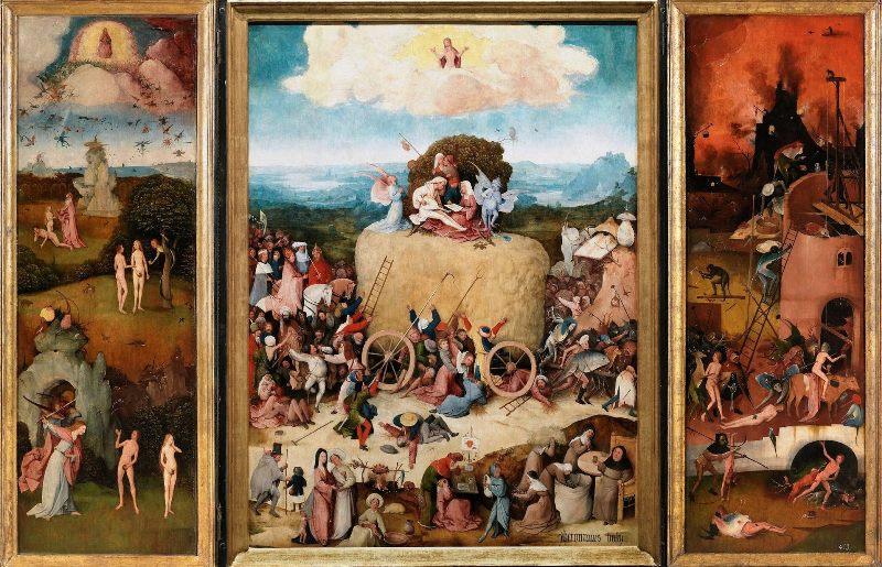 Картина Иеронима Босха. Триптих «Воз сена». («Воз с сеном»).
