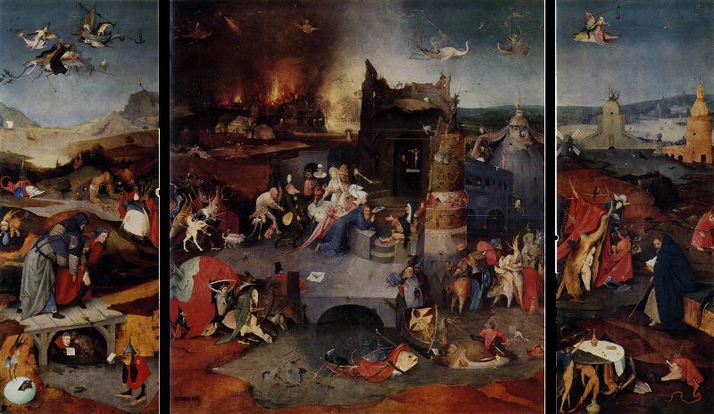 Триптих «Искушение святого Антония». Картина Иеронима Босха.