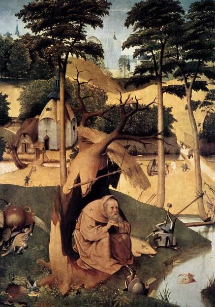 Панно «Искушение святого Антония». Картина Иеронима Босха.