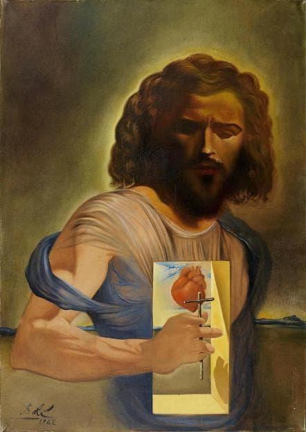 Сальвадор Дали. Картина «Священное сердце Иисуса».