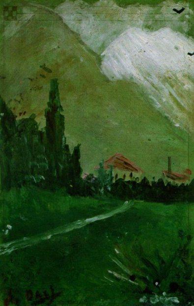 Первая картина Сальвадора Дали. Пейзаж близ Фигераса.