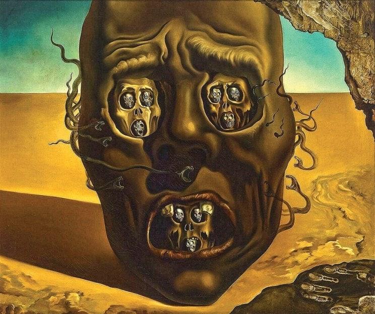 Сальвадор Дали. Картина «Лицо войны».