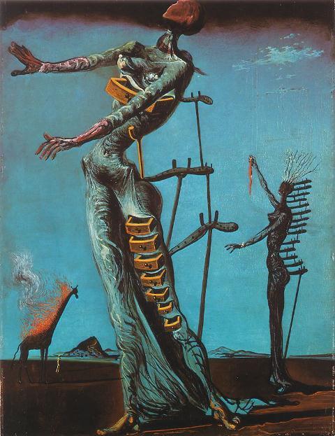Сальвадор Дали. Картина «Горящий жираф» (Жираф в огне)..