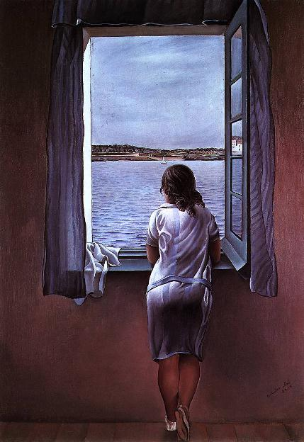 Сальвадор Дали. Картина «Девушка у окна».