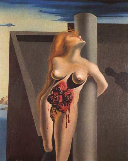 Сальвадор Дали. Картина «Кровоточащие розы».