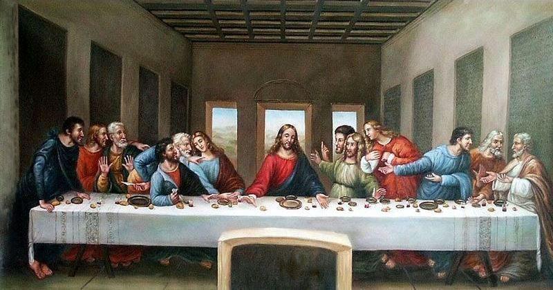 «Тайная вечеря» 1498 год. Картина Леонардо да Винчи.