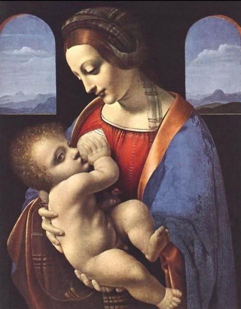 «Мадонна Литта» 1491 год. Картина Леонардо да Винчи.