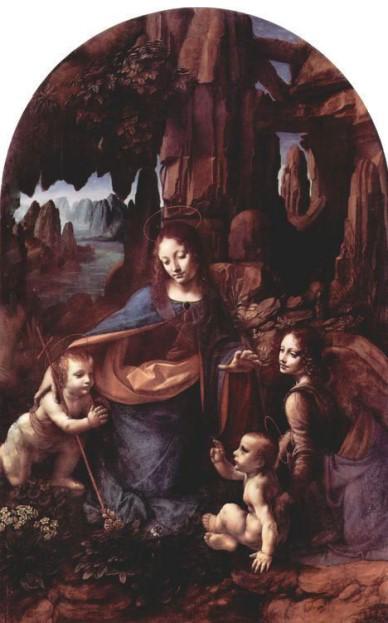 «Мадонна в гроте» 1494 год. Картина Леонардо да Винчи.
