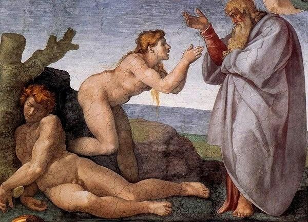 Сотворение Евы. Картина фреска Микеланджело Буонарроти. Сикстинская капелла. Фото.