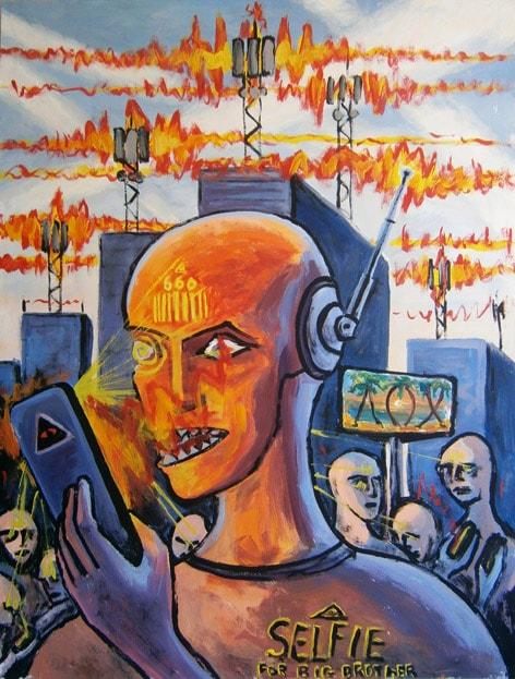 «Биороботы на радиоуправлении». Холст, акрил. 73 х 57 см.