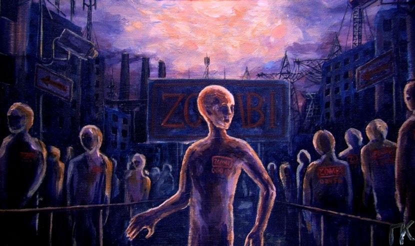 «Зомби». Холст, акрил. 29 х 39 см.