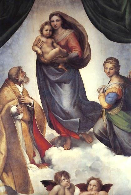 «Сикстинская мадонна». Картина маслом на холсте Рафаэля Санти. Находится в Галерее старых мастеров, в Дрездене.