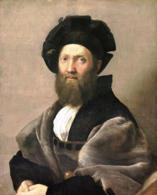 Портрет Бальдассаре Кастильоне (графа Новилары, итальянского писателя). Картина Рафаэля Санти находится в Лувре, в Париже.