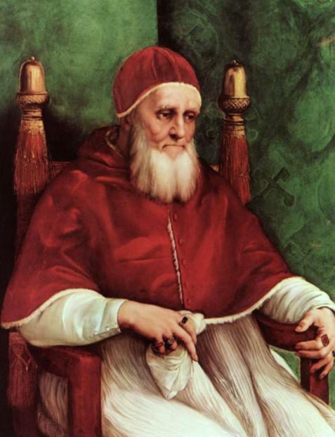 «Юлий II». Портрет 216-го папы римского  Джулиано делла Ровере. Картина Рафаэля Санти.