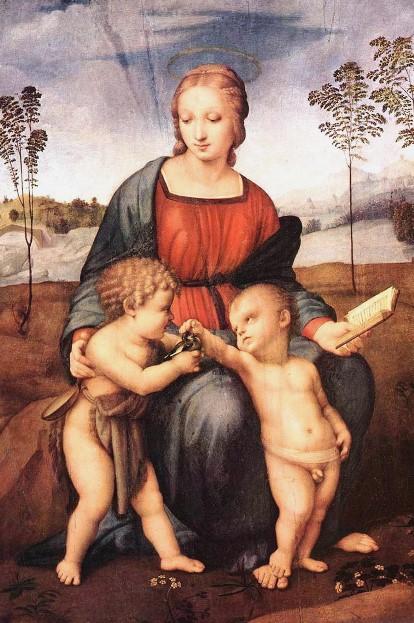 «Мадонна со щеглом». Картина Рафаэля Санти выполнена маслом на доске. Находится в Галерее Уффици, во Флоренции.