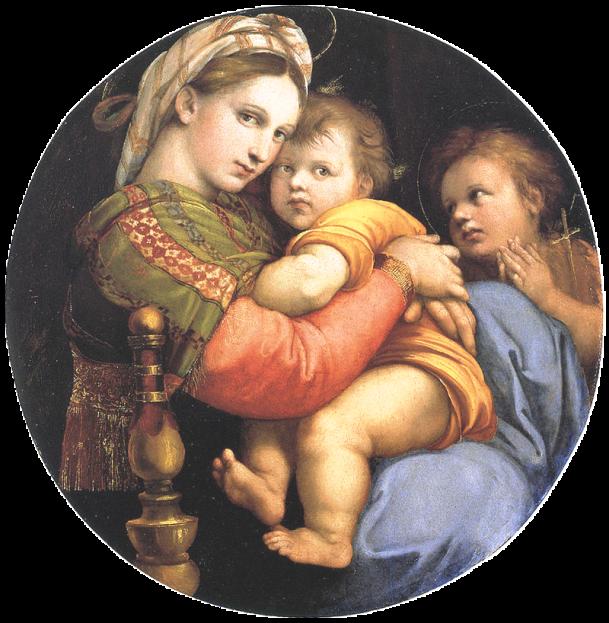 «Мадонна в кресле». Картина Рафаэля Санти выполнена маслом. Находится в Палаццо Питти, во Флоренции, в Италии.