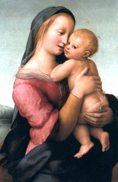 «Мадонна Темпи». Картина Рафаэля Санти маслом на доске. Находится в картинной галерее «Старая пинакотека», в Мюнхене.