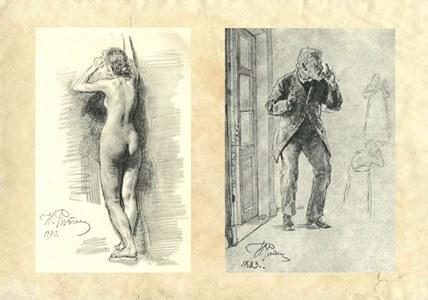 Зарисовки и наброски фигуры человека.