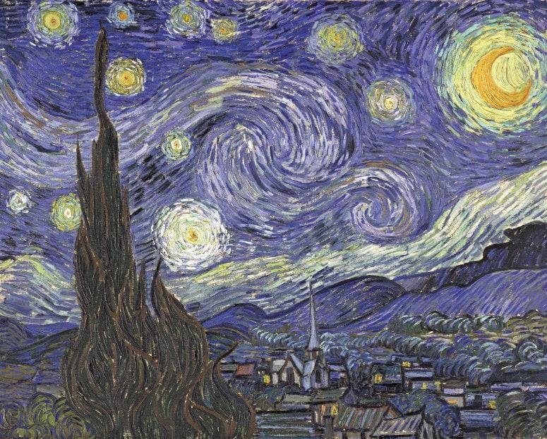 Звёздная ночь, 1889 год. Картина Винсента Ван Гога.