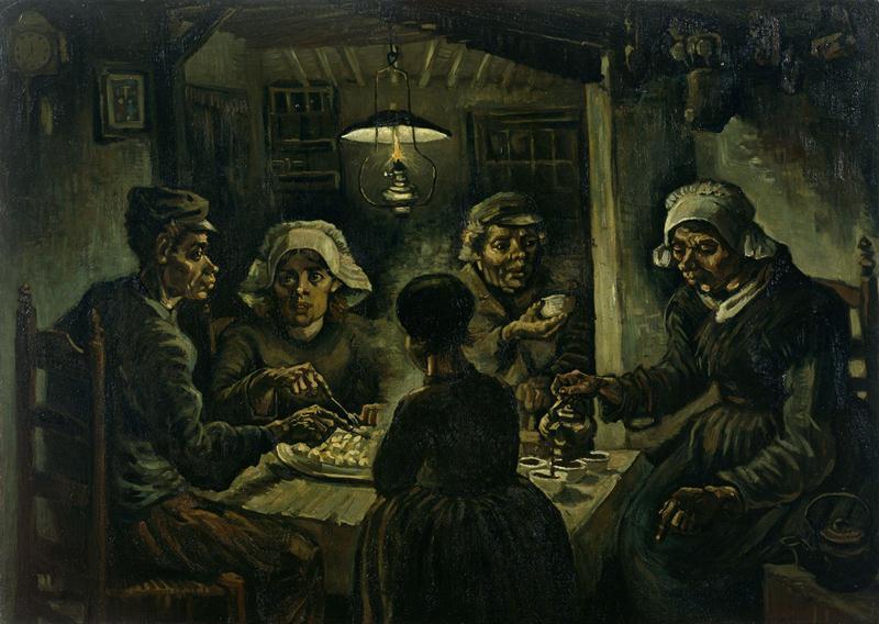 Едоки картофеля, 1885 год. Картина Винсента Ван Гога.