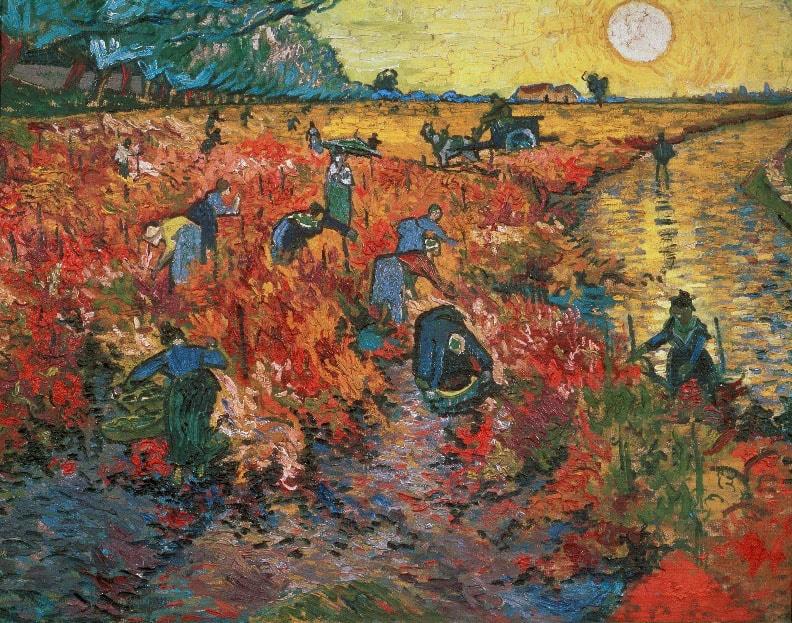 Красные виноградники в Арле, 1888 год. Картина Винсента Ван Гога.