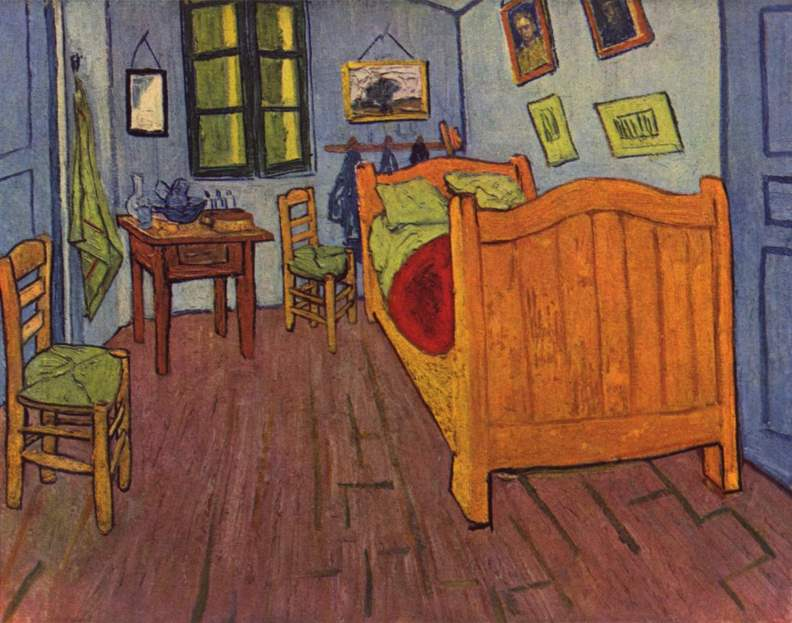 Спальня в Арле, 1888 год. Картина Винсента Ван Гога.