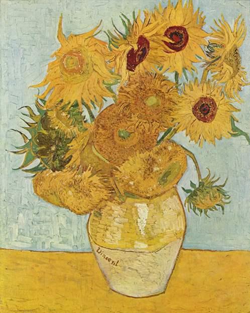 Подсолнухи, 1888 год. Картина Винсента Ван Гога.