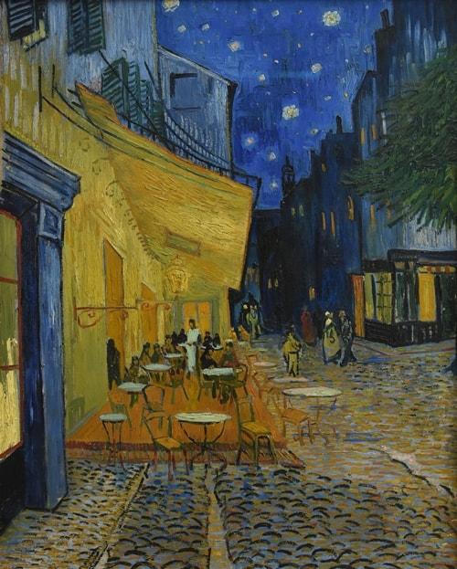 Ночная терраса кафе, 1888 год. Картина Винсента Ван Гога.
