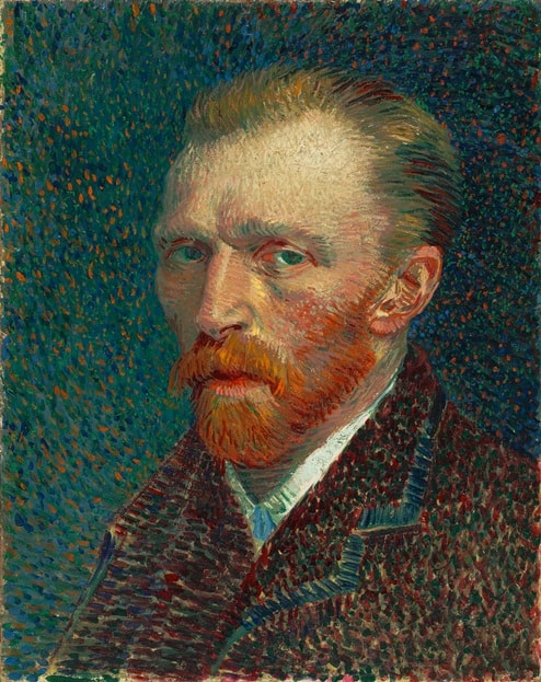 Автопортрет, 1887 год. Картина Винсента Ван Гога.