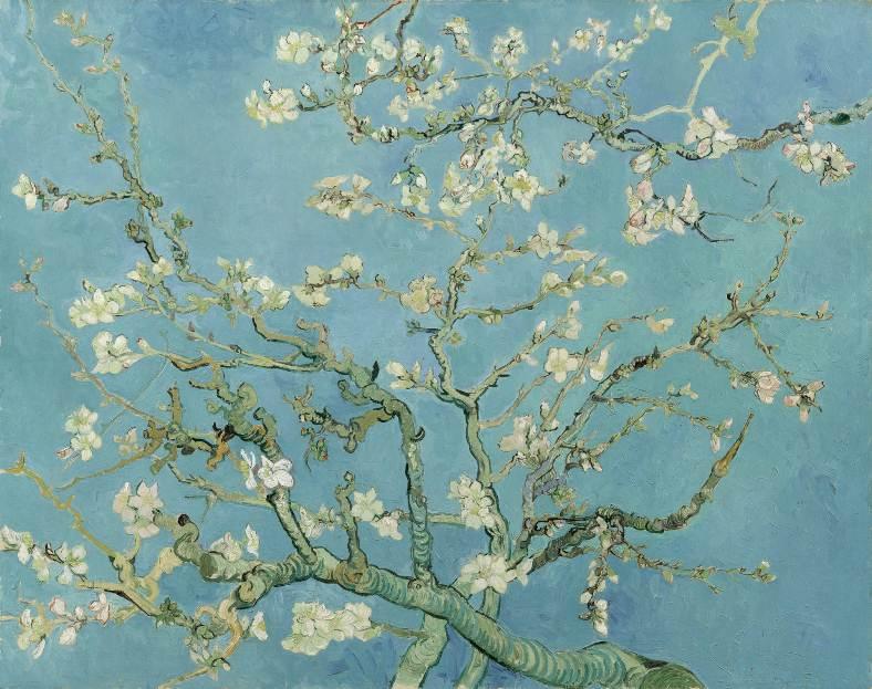 Цветущие ветки миндаля, 1890 год. Картина Винсента Ван Гога.