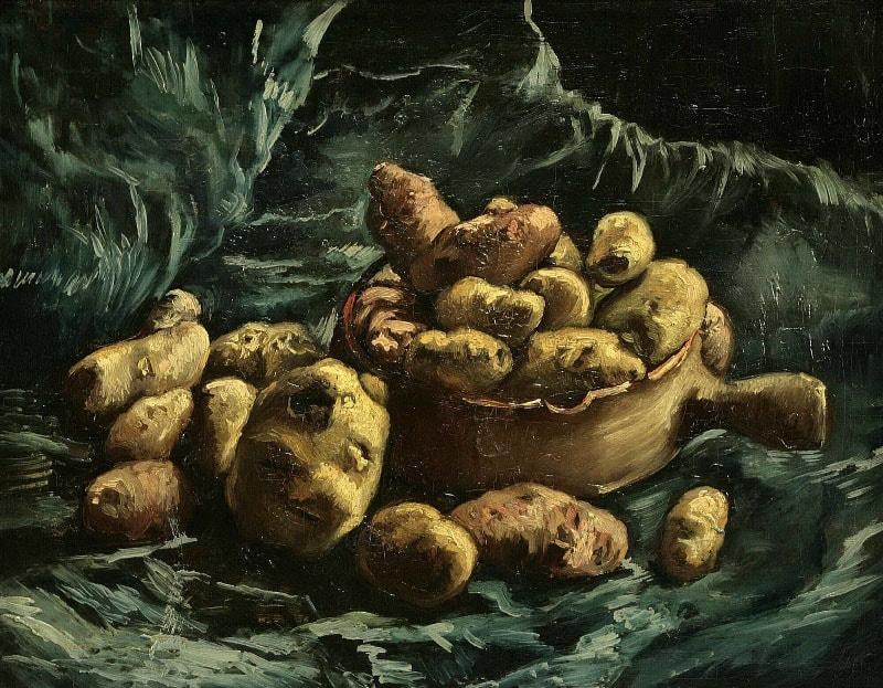 Натюрморт с картофелем, 1886 год. Картина Винсента Ван Гога.