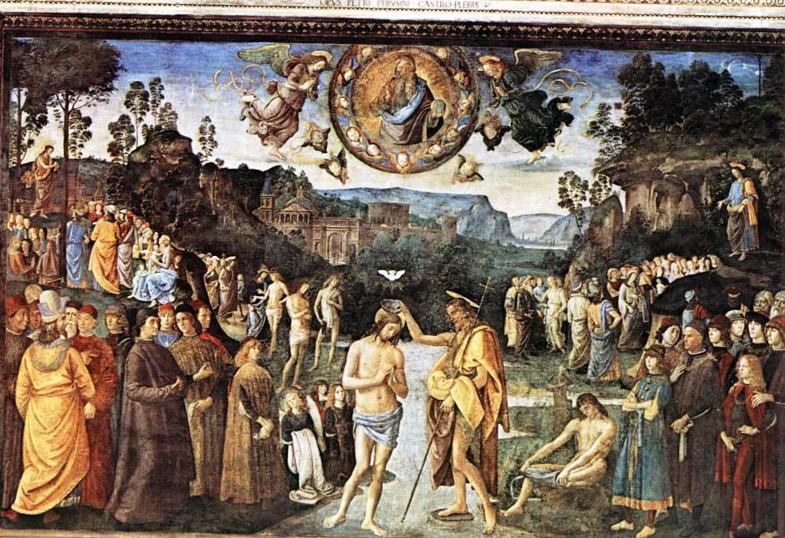 Крещение Христа. Фреска Сикстинской капеллы.
