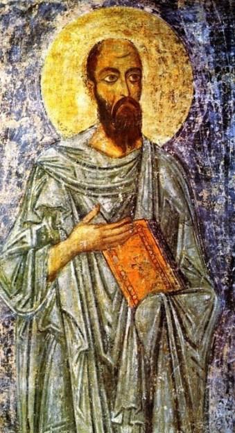 Фреска Апостол Павел (фрагмен бокового алтаря Петра и Павла).