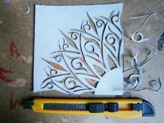 Фото. Как сделать трафарет для росписи мебели. Мастер класс от творческой мастерской Огонь.