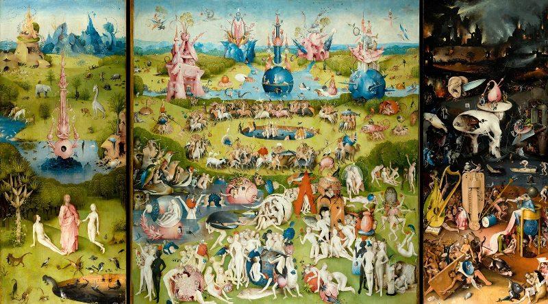 «Сад земных наслаждений». Триптих картина. Иероним Босх. Фото и описание.