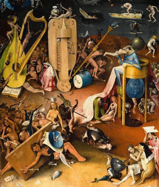 Музыкальный ад. Часть картины «Сад земных наслаждений» Босха.
