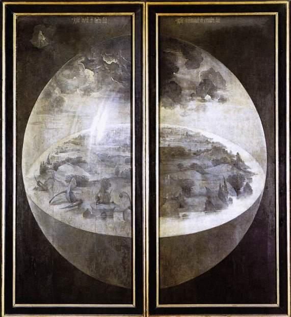 Внешние панели триптиха Босха «Сад земных наслаждений»