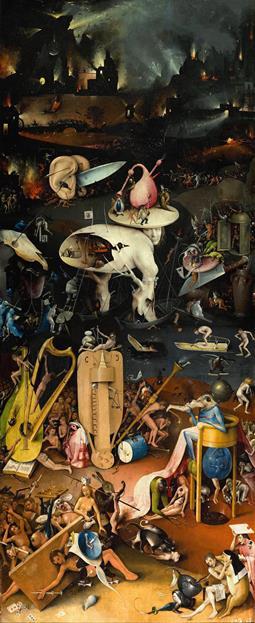Ад. Картина Иеронимуса Босха «Сад земных наслаждений». Правая часть триптиха.