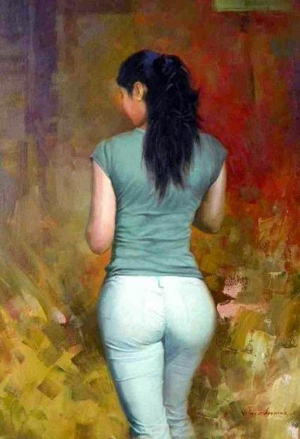 Эту картину девушки нарисовал индийский художник Вилас Хормаль.