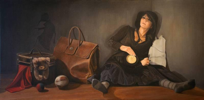 На фото картина девушки, нарисованная швейцарской художницей Барбарой Тосатто.