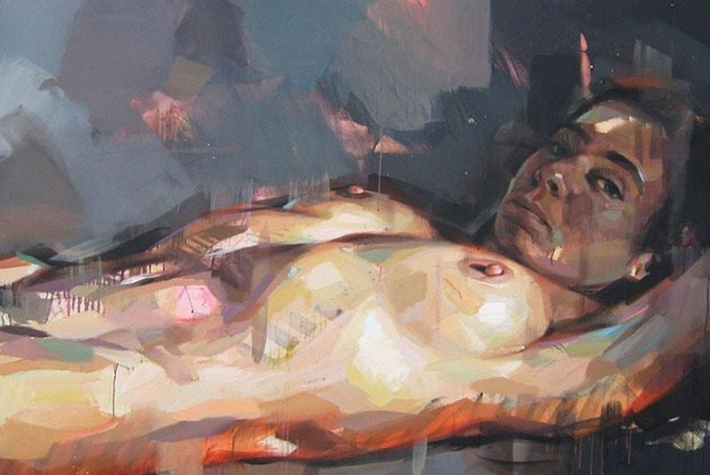 Картина с изображением девушки, французского художника Pascal Vilcollet.