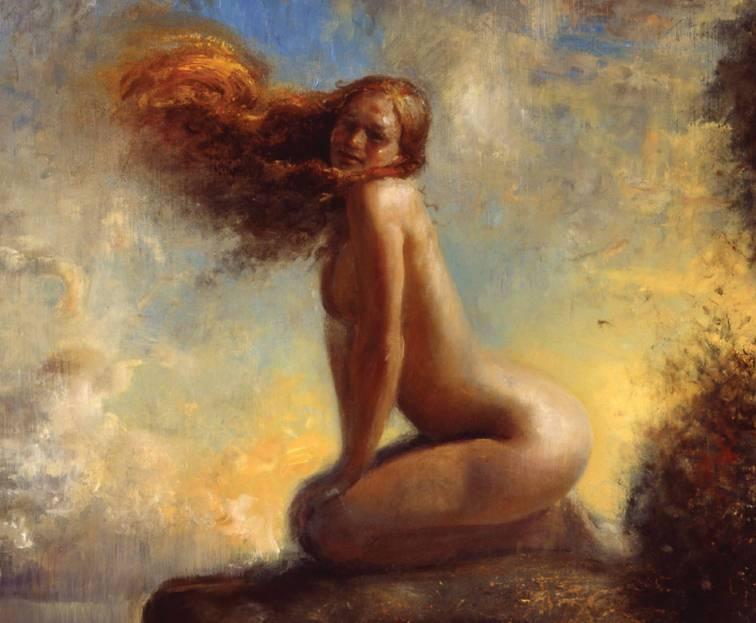 Картина девушки, нарисованная норвежским художником Джонни Эндвиком.