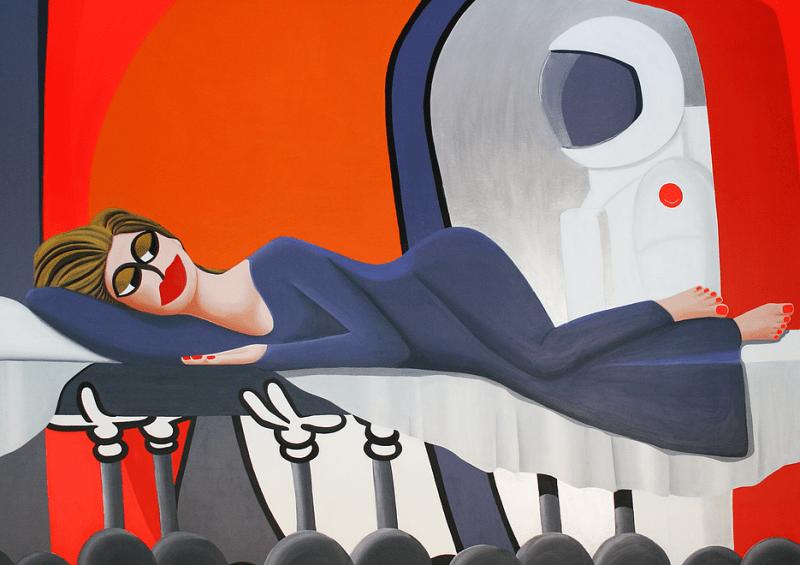 На фото картина девушки, нарисованная художником Дании, Ларсом Магнусом.