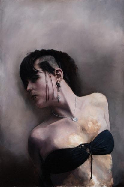 На фото картина девушки, нарисованная австралийским художником Мэттом Мартином.