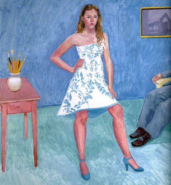 Портрет девушки, картина одного из самых богатых художников Великобритании Дэвида Хокни.