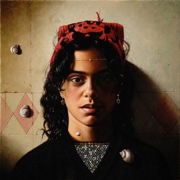 На фото картина девушки, нарисованная маслом на холсте итальянским художником Аурелио Бруни.