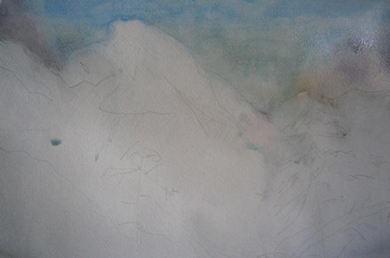Фото. Рисунок. Набросок картины. Как нарисовать горы акварелью. Поэтапно, для начинающих и детей.