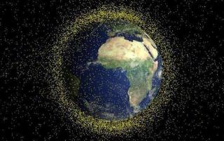 Фото. Картинки. Космический мусор. Карта космического мусора. Экранирование планеты.