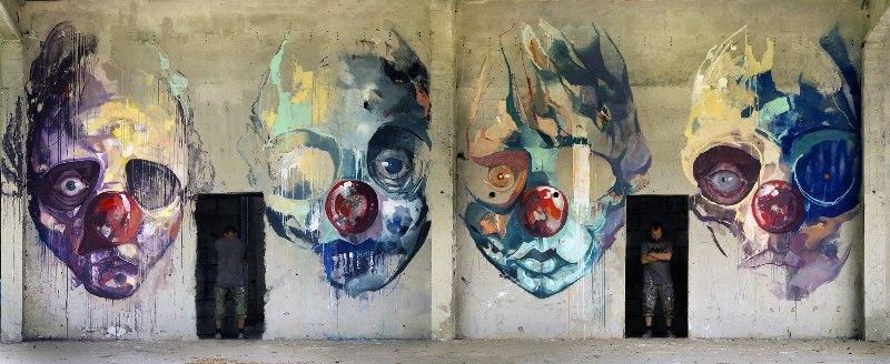 На фото мурал «The Further You Go...» нарисованный в Варшаве, польским стрит-арт художником Sepe.